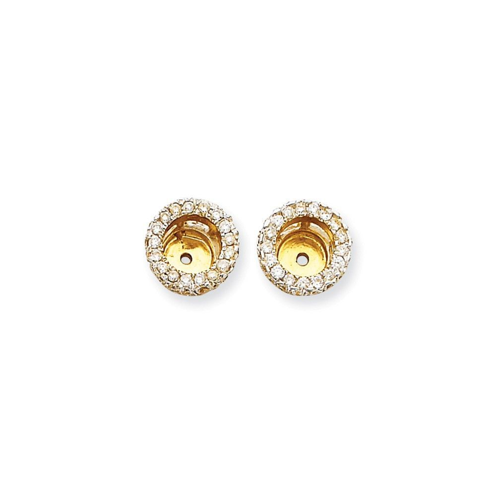 hoop gold white diamond en accents round zm mv small kaystore kay earrings