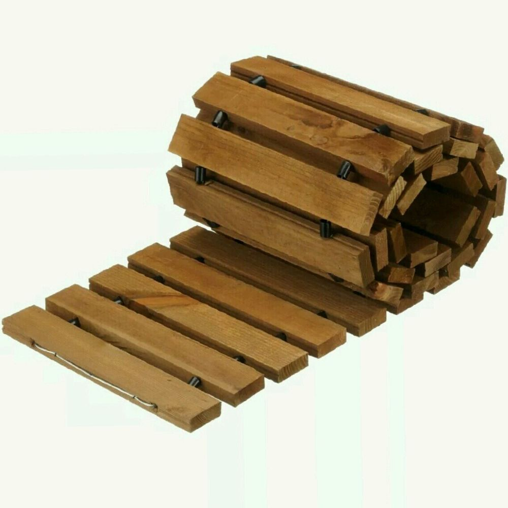 Garden Path Portable Roll Out 2m Wood Gardening Walkway