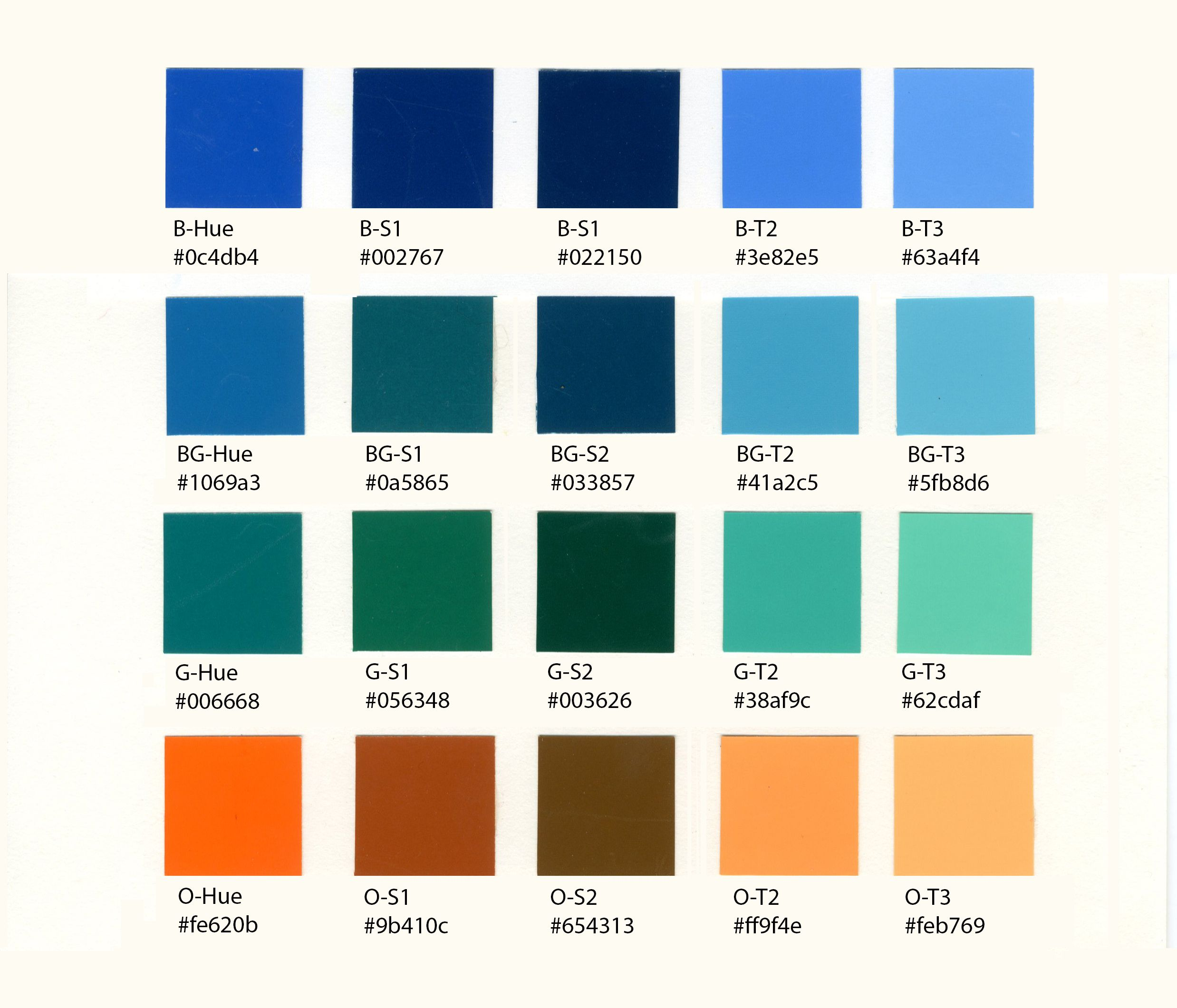 Different Shades Of Orange Paint names of the different shades of blue | roselawnlutheran