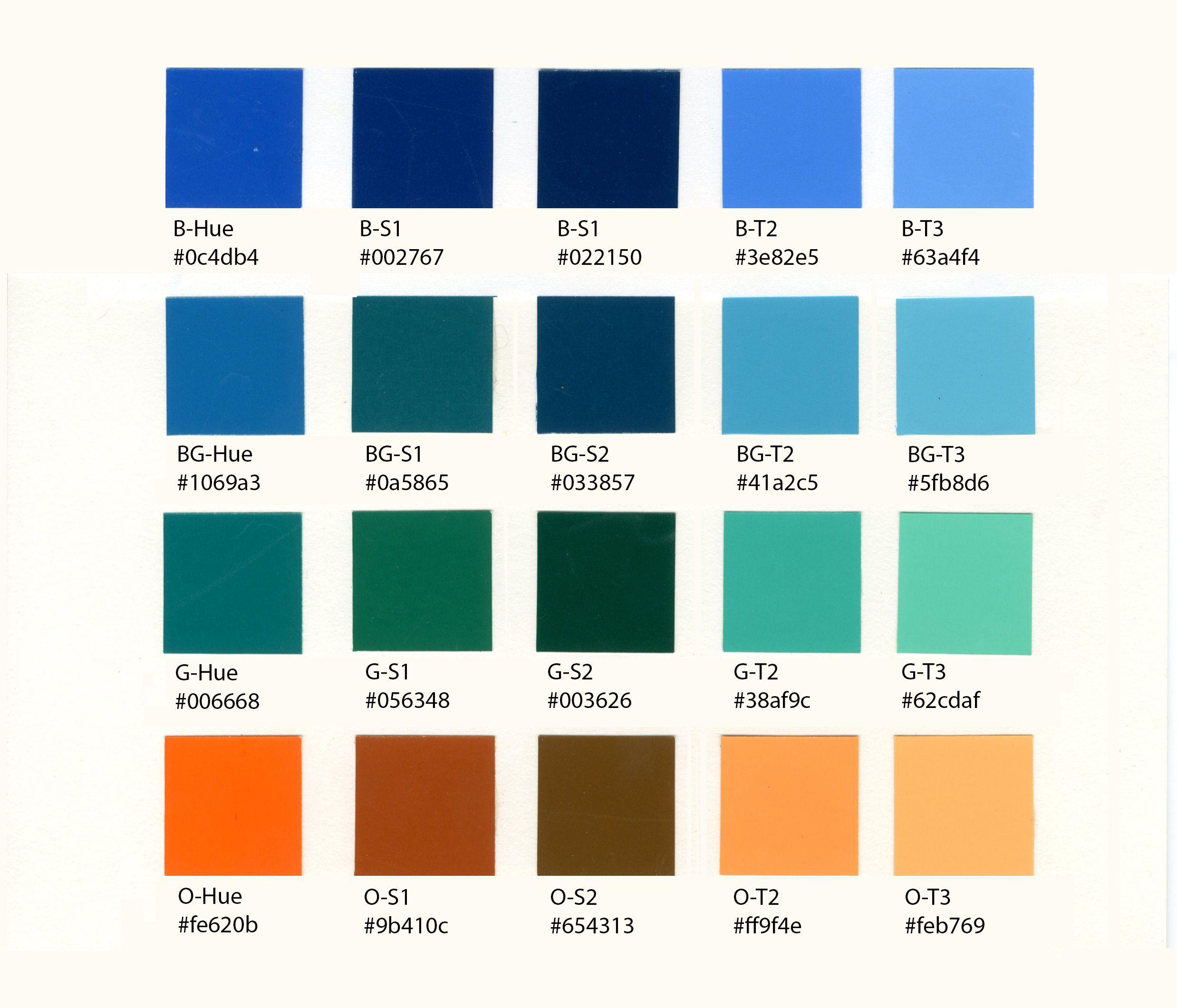Week 4: Color Scheme – BLUE and some design work | Orange color ...