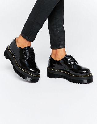 fed0053a8770 Dr Martens - Holly - Chaussures plateforme avec ruban