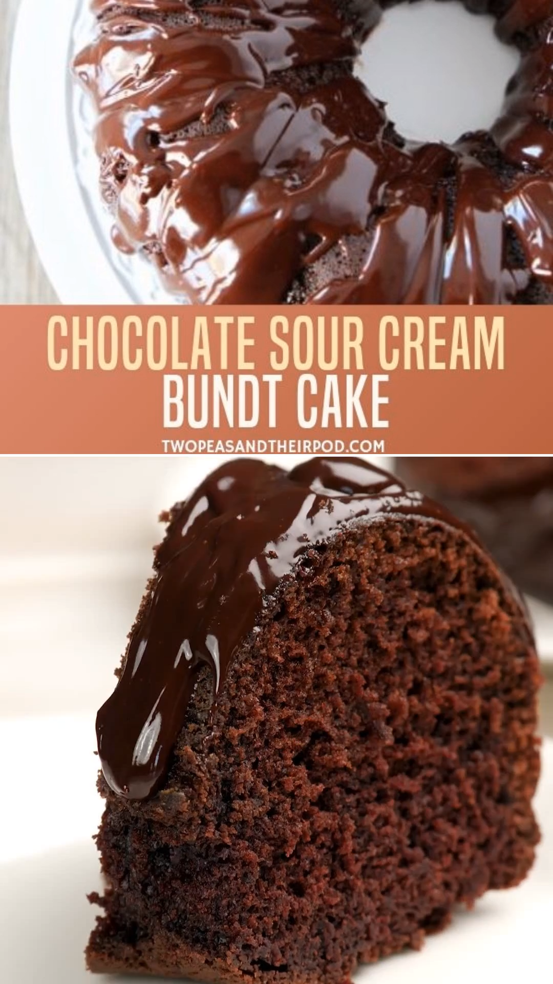 Chocolate Sour Cream Bundt Cake In 2020 Homemade Chocolate Cake Easy Cake Recipes Homemade Chocolate