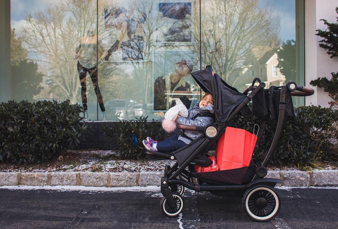 The Austlen Entourage stroller makes holiday shopping easy