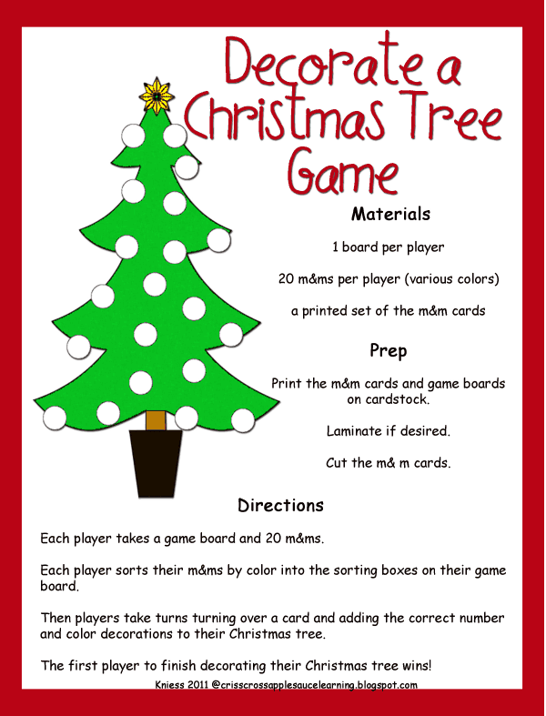 Decorate A Christmas Tree M M Game Pdf Christmas Tree Game Christmas Tree Inspiration Xmas Tree Decorations