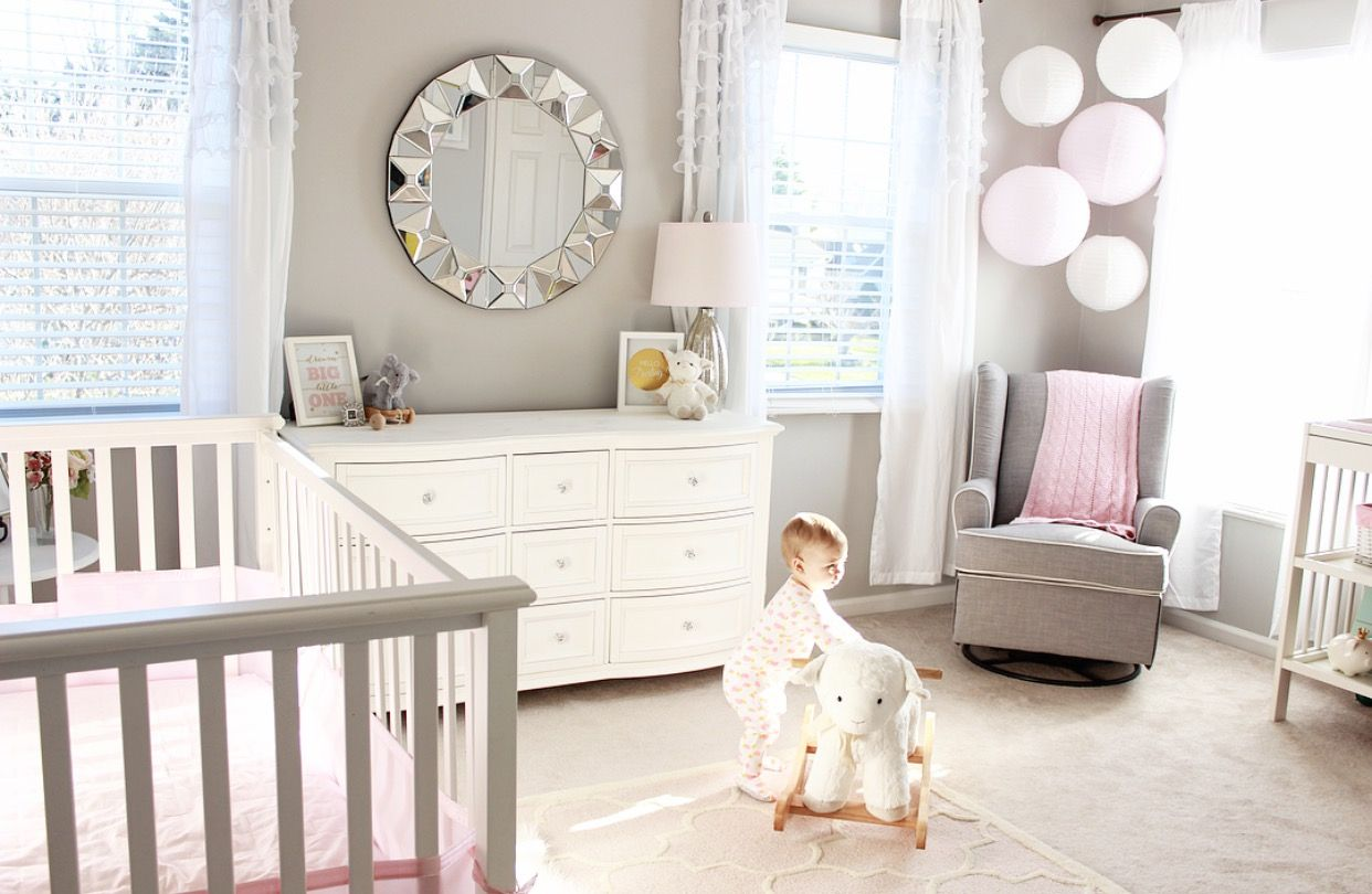 Baby Nursery Soft Pink And Gray Love The Color Combinations Wall Is Valspar Filtered Shade