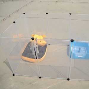 Pet Dog House Plastic Transparent Dog Fence Multifunctional Kennel House Dog Cat Practical Home Keeper Dog Door File: gbkdw-6350 …