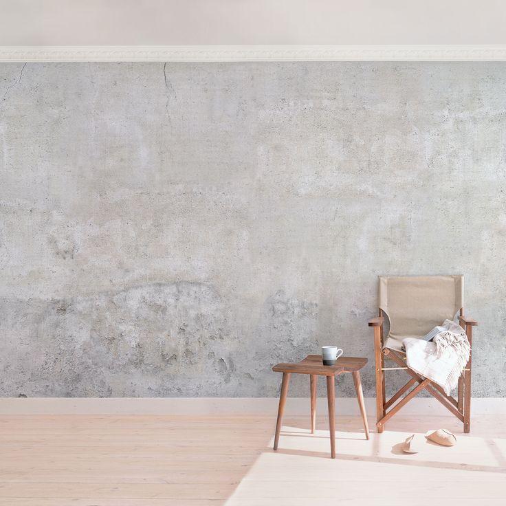 Concrete wallpaper non-woven wallpaper - Shabby concrete look wallpaper - photo wallpaper Wide # & Concrete wallpaper non-woven wallpaper \u2013 Shabby concrete look ...
