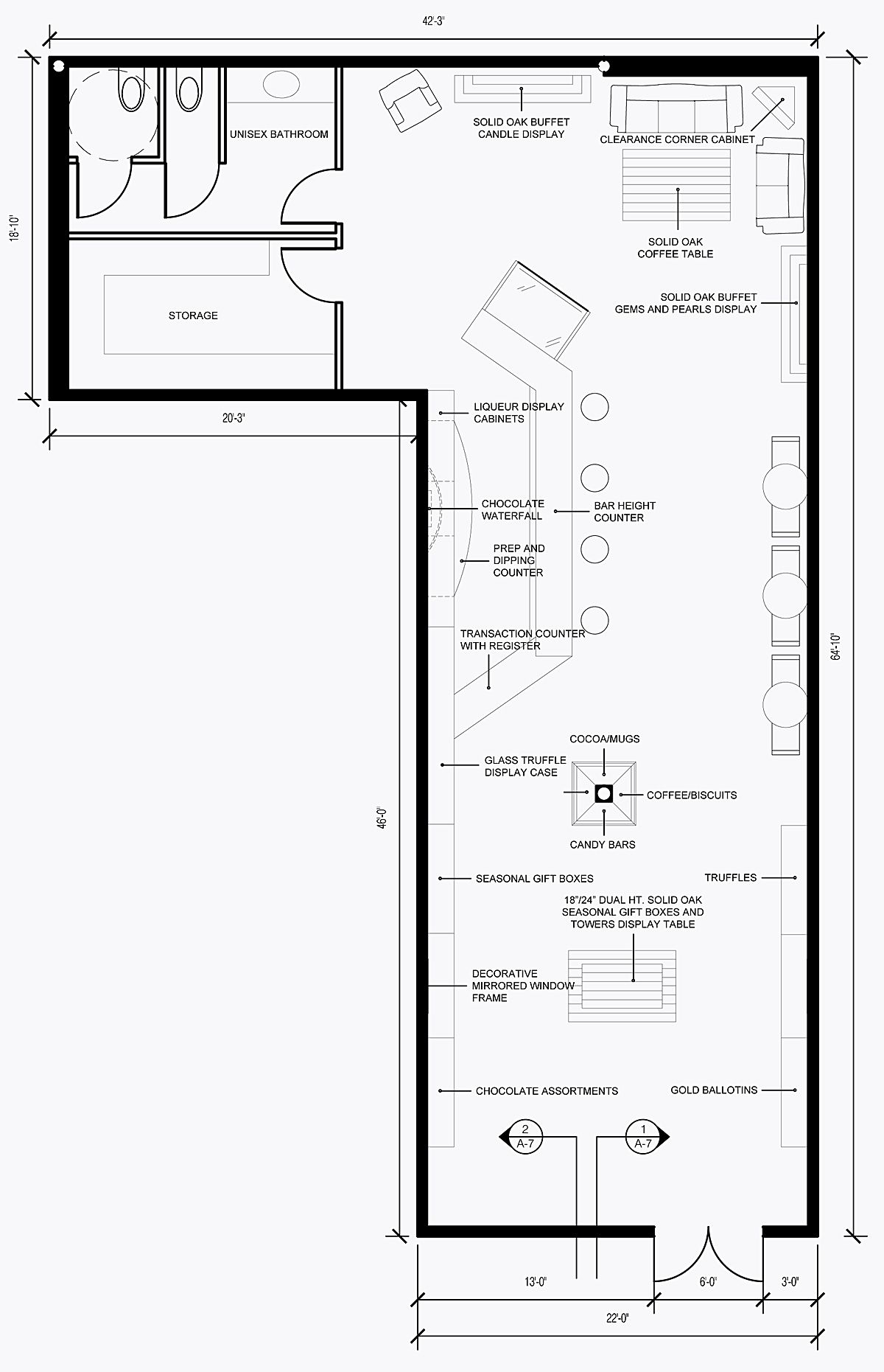 Outstanding sample retail store floor plans 1200 x 1861 for Blueprint drawing program