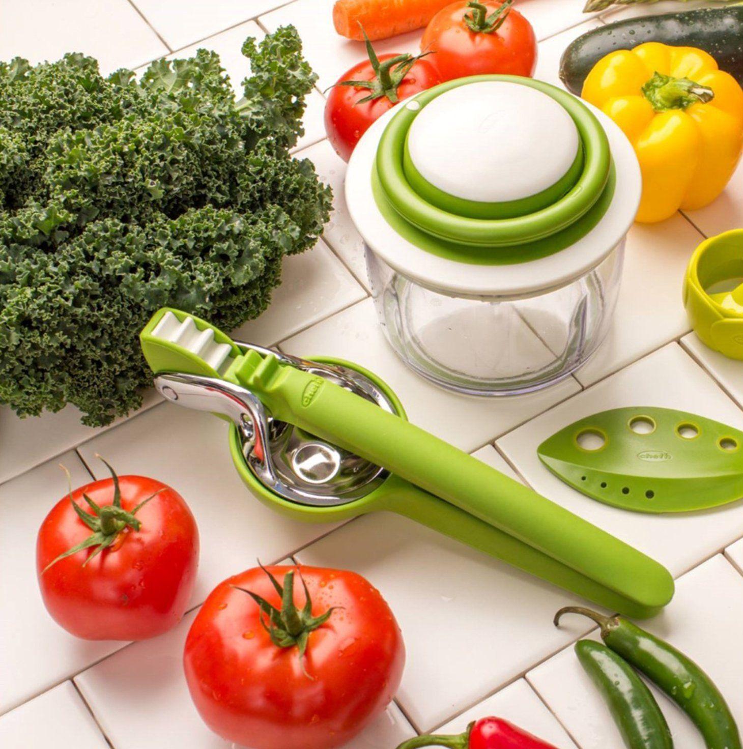 Amazon.com: Chef\'n VeggiChop Hand-Powered Food Chopper (Arugula ...