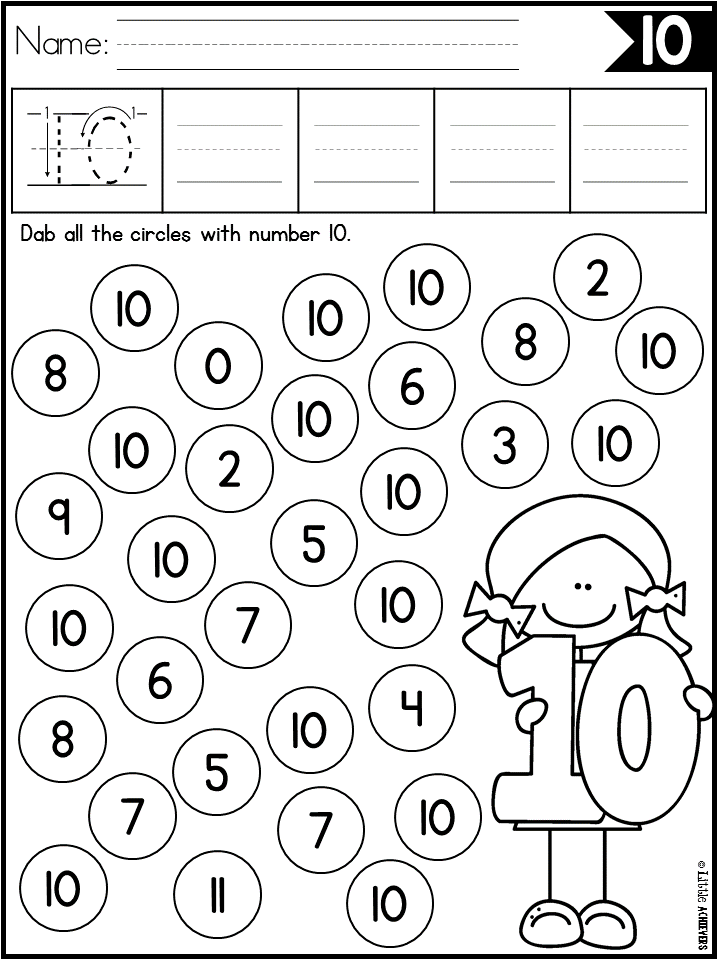 Trace Numbers 120 Worksheets Numbers preschool