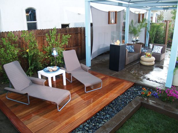 Deck Backyard Ideas 20 beautiful wooden deck ideas for your home Good Combination Of River Rock Wood Deck Concrete And Railroad Ties For Edging