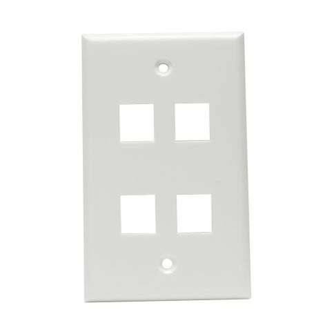 Wall Plate With 4 Port Keystone Jack Insert Plates On Wall Plates Wall