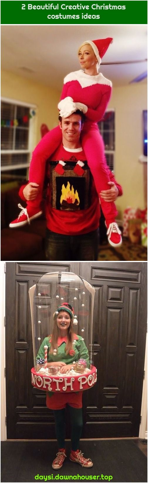2 Beautiful Creative Christmas costumes ideas My Halloween costume this year I was a snowglobe My Halloween costume this year I was a snowglobe  My Halloween costume this...