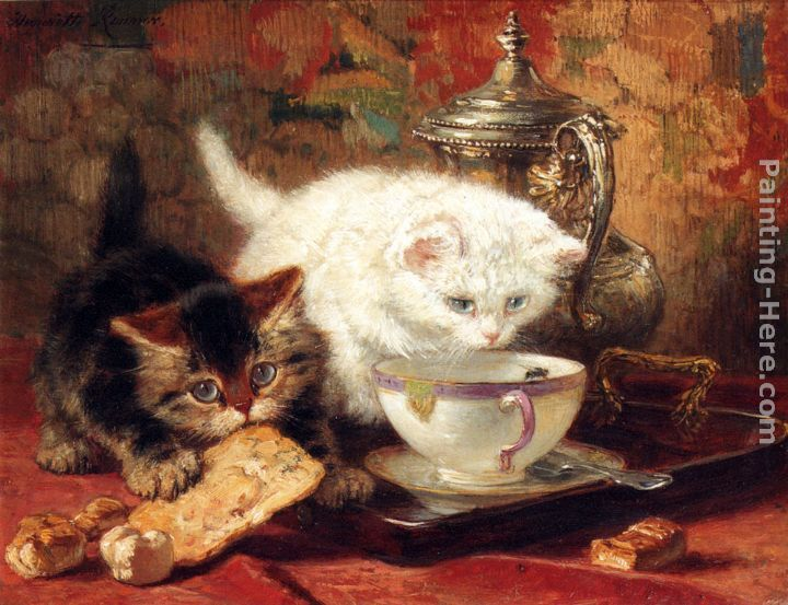 Another painting by Henriette Ronner-Knip.