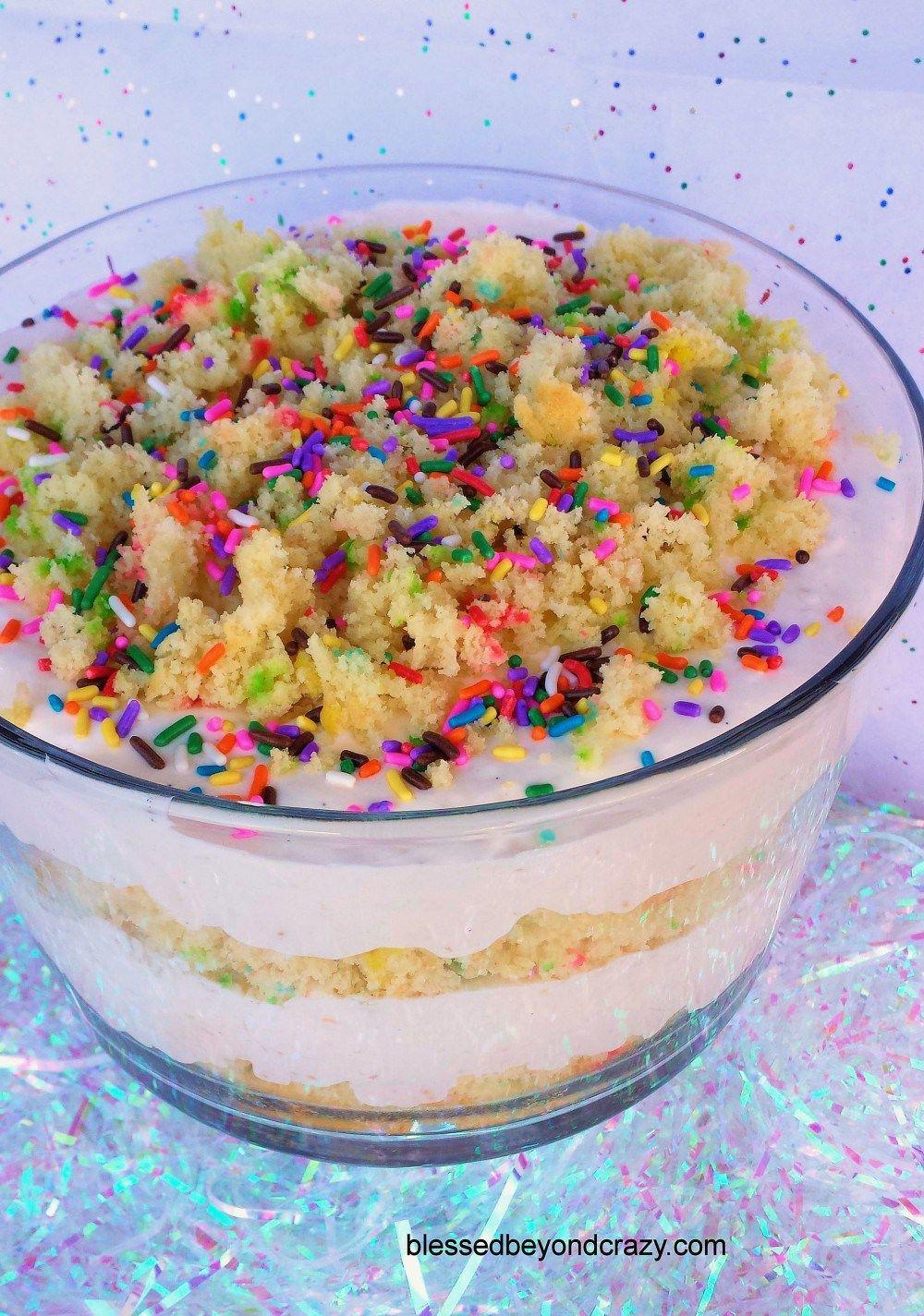 Funfetti birthday cake trifle 7 birthday cake