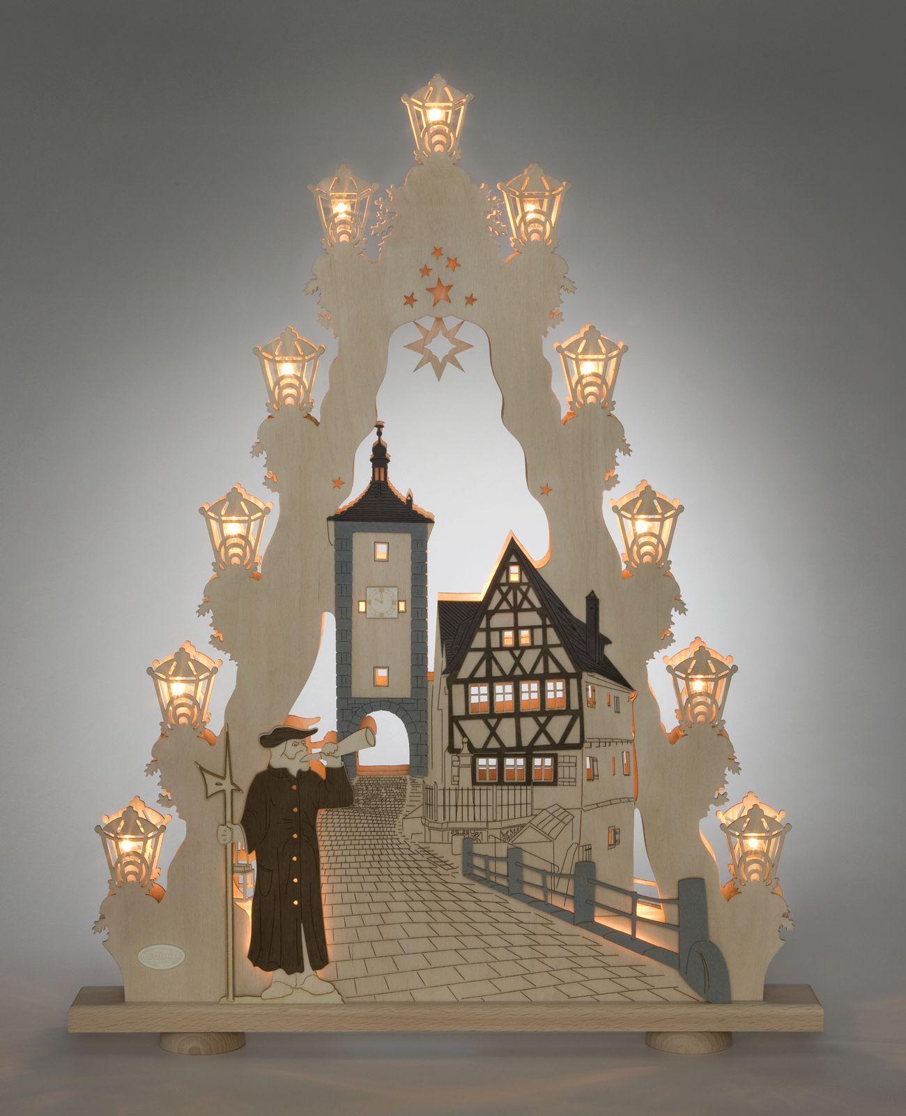 Lichterspitze 15 Flg Rothenburg Ob Der Tauber Schwibbogen Weihnachtsdeko Weihnachtsleuchter