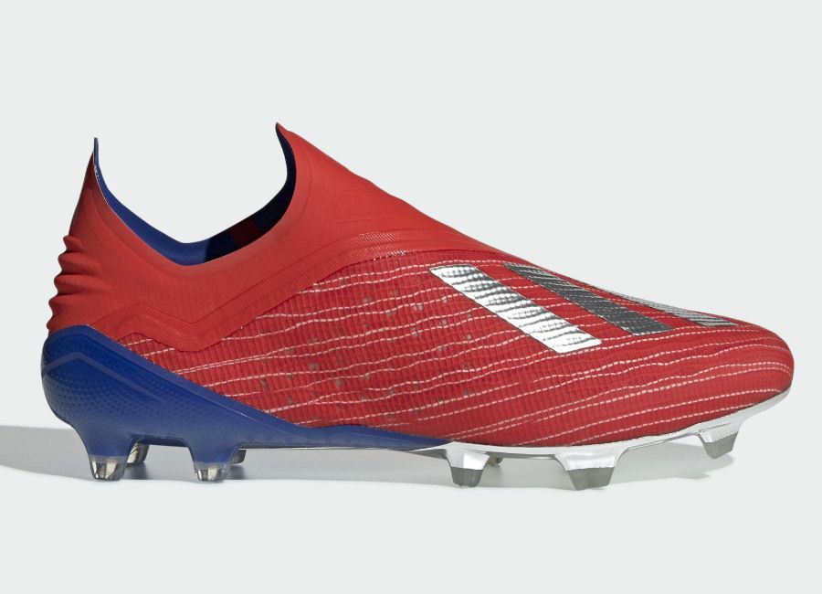 e9bfefb6 Adidas X 18+ FG Exhibit - Active Red / Silver Met / Bold Blue  #adidasfootball #footballboots