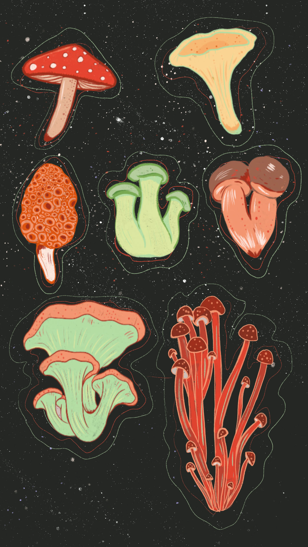 Phone Wall Paper Download Mushroom Forager In 2021 Mushroom Wallpaper Hippie Wallpaper Witchy Wallpaper