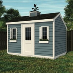 12 X 8 Gable Shed Package With Salt Box Roof And Vinyl Siding Shed Saltbox Houses Vinyl Siding