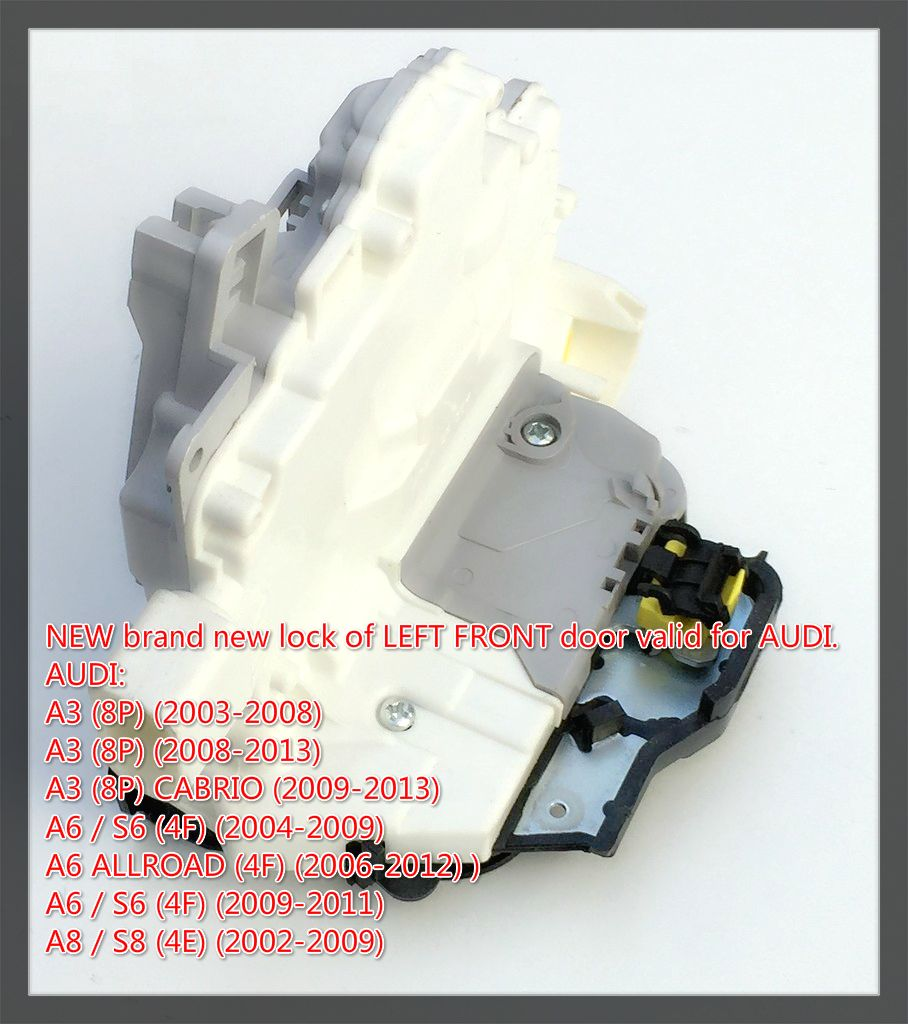 For Audi A3 A6 C6 A8 R8 Front Left Door Lock Latch Actuator 4f1837015 4f1837015e 4f1837015f 9pin Audi Latches Audi A6