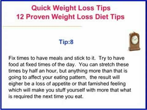 proven quick weight loss tips