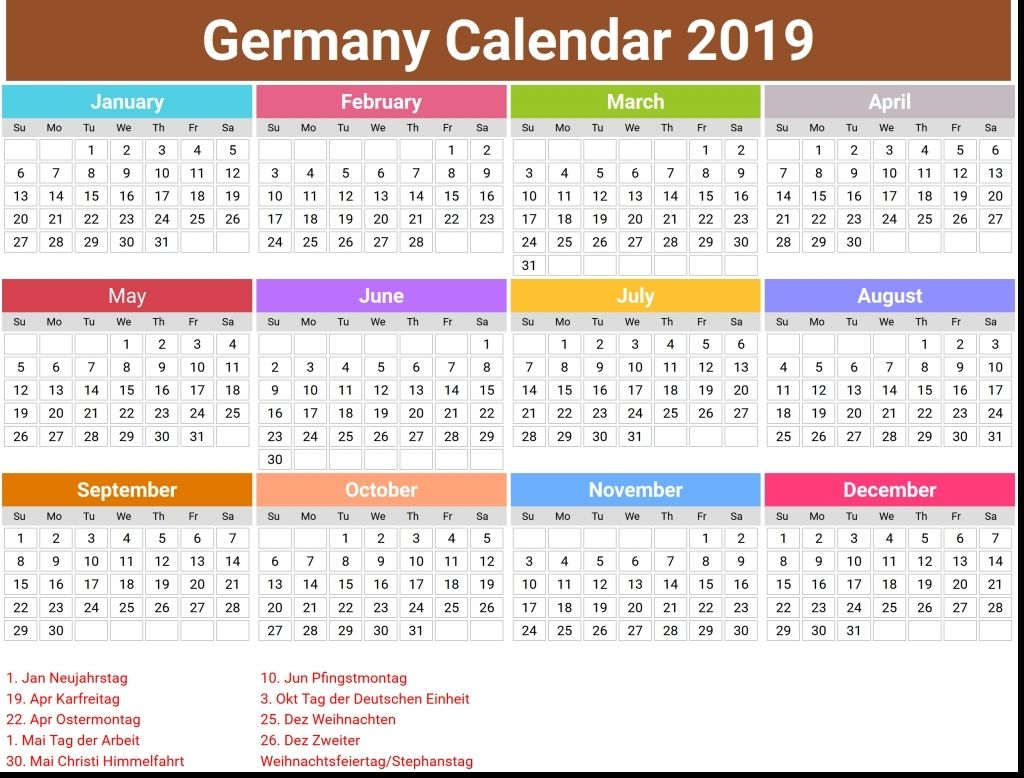 Calendar Public Holidays Germany In 2020 Holidays Germany Calendar Blank Calendar Template