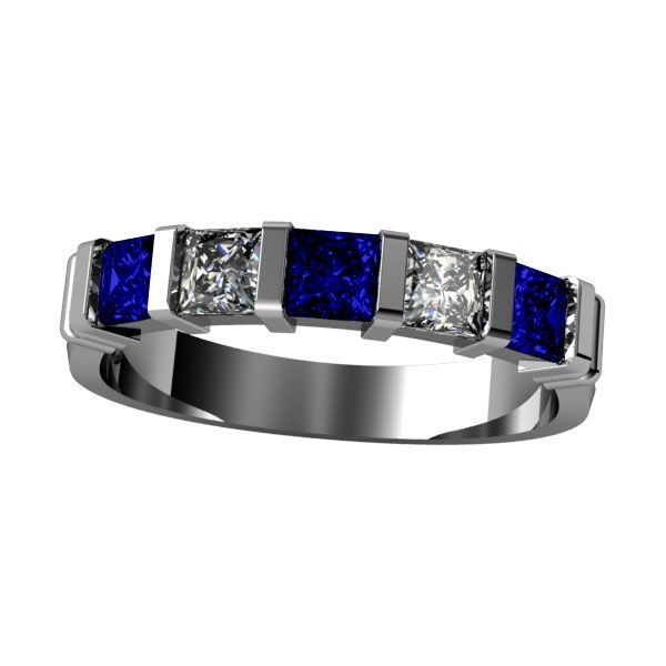 Dallas Cowboys - Sapphire Blue and Clear Cubic Zirconias. See our NFL Fan personalized jewelry at mamasjewelry.com