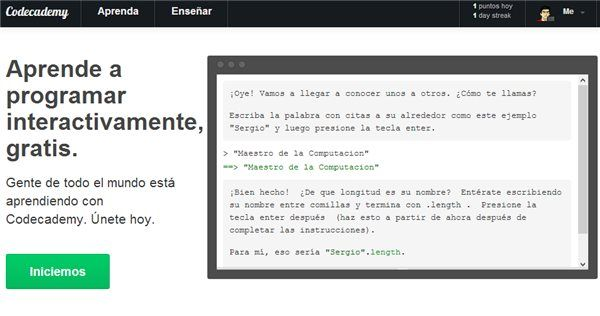 Codeacademy, plataforma para aprender a programar desde cero