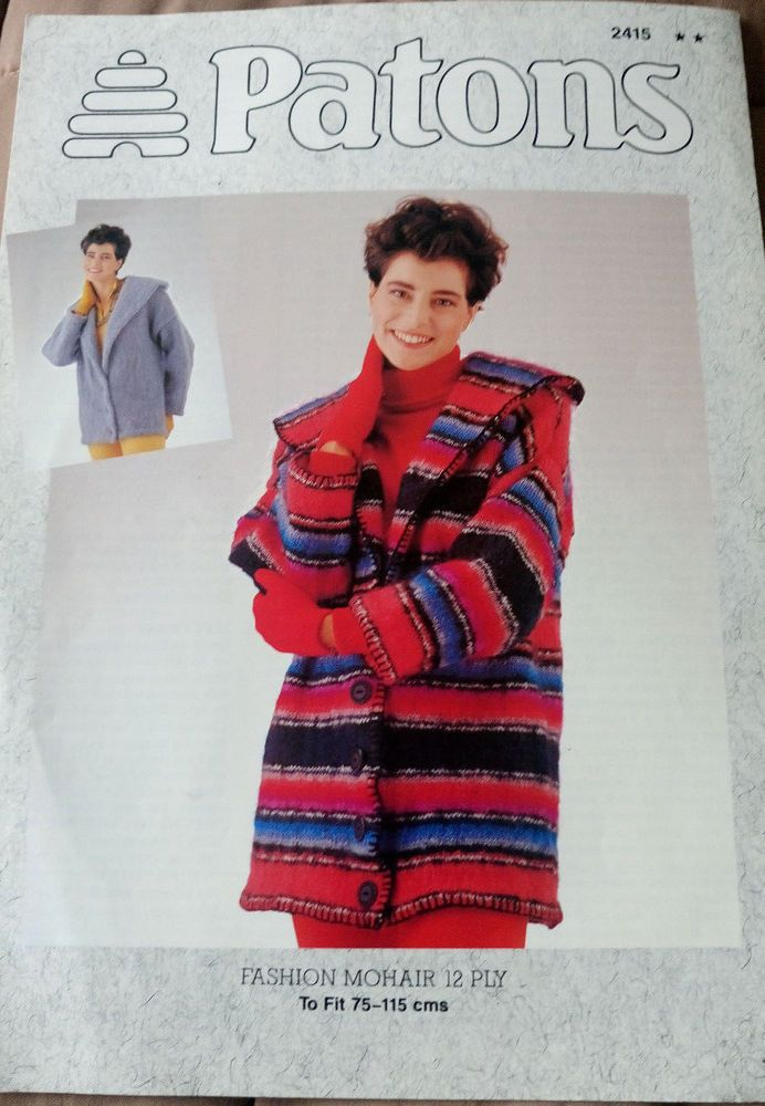 Women S Mohair Jacket Knitting Pattern 12 Ply Yarn Patons