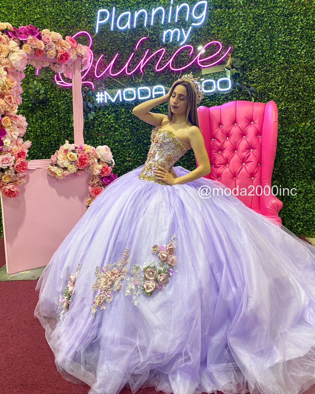 Unique Quince Lilac Dress With Eye Catching Flowers Quince Dresses Quinceanera Dresses Lilac Dress [ 1350 x 1080 Pixel ]