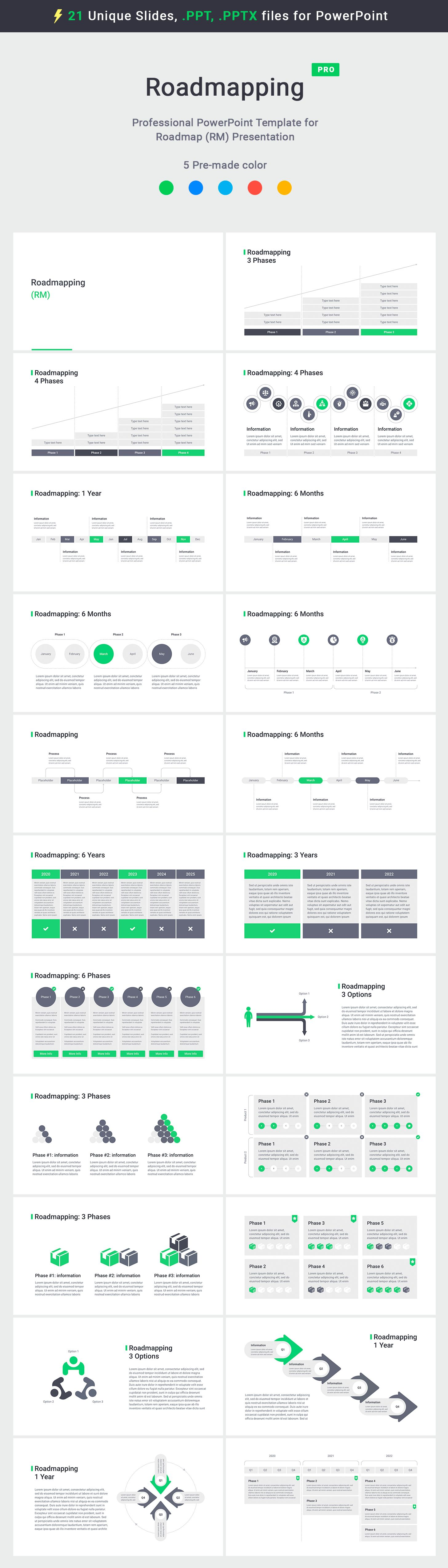 Roadmap templates PowerPoint (PPT, PPTX) Download Now