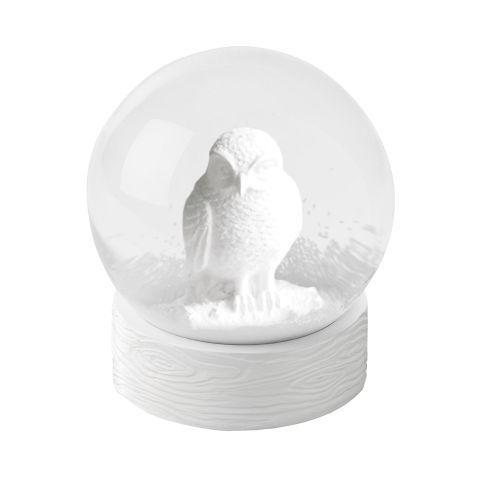 Snowglobe, Barn Owl, White - love!