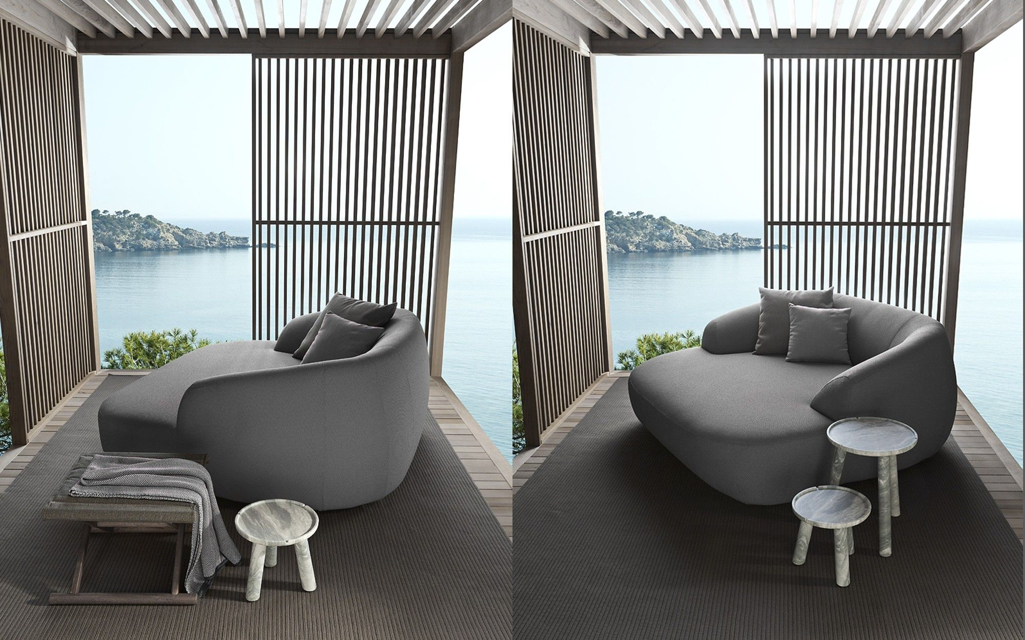 Palau outdoor sofa by Exteta Available from Pure Interiors