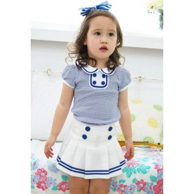 Simply adorable nautical retro styled dress for kids. Vintage Inspired Baby  Children's Clothes Vindie Baby Girl Blue Stipes Vintage Inspired Sailor Dress. www.vindiebaby.com
