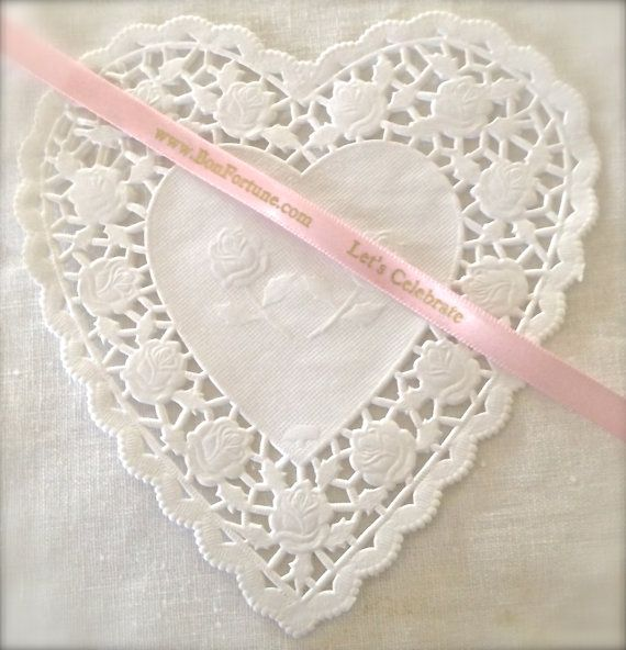 Heart Shaped Doilies Pink & White-2 Dozen