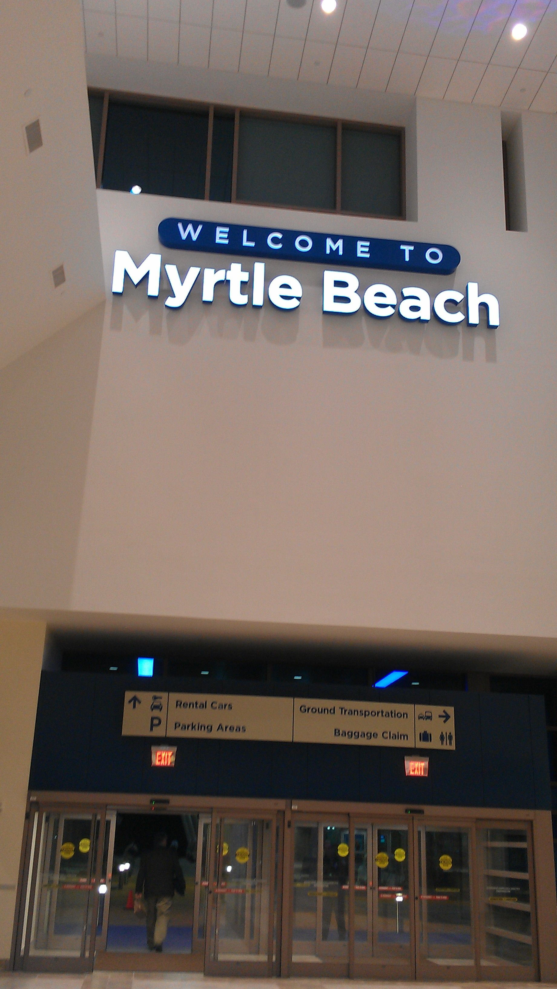 Welcome Sign In New Myrtle Beach International Airport Myrtle