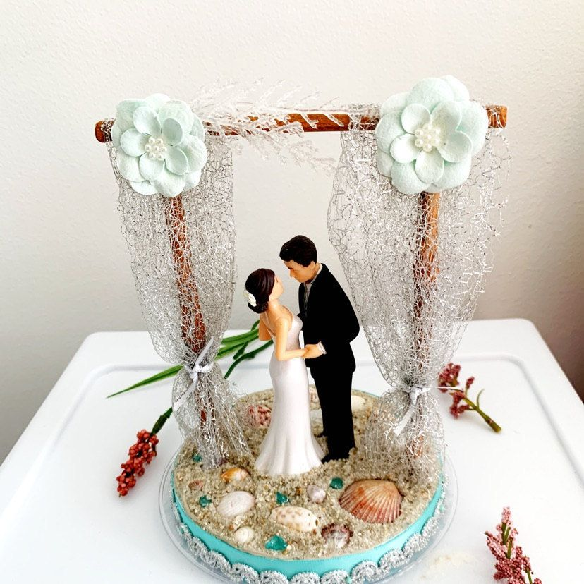 13++ Bride and groom beach wedding cake topper ideas in 2021