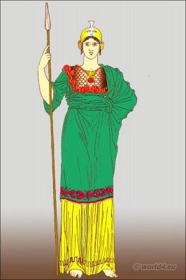 Greece chiton costume. What Did Ancient Greek Goddess Athene wear. Pallas Athena costume. Greek helmet