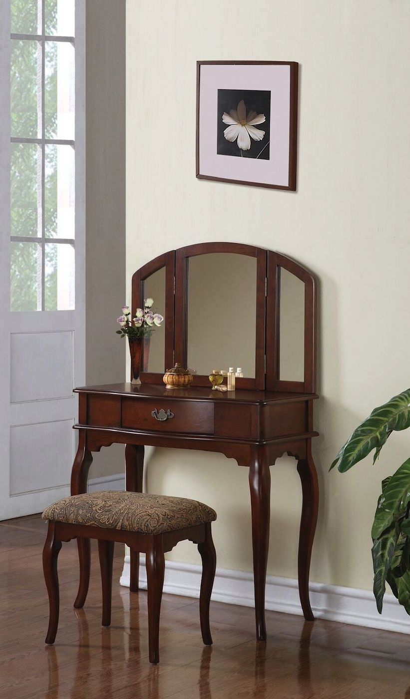Estelle vanity set with mirror vanities and products