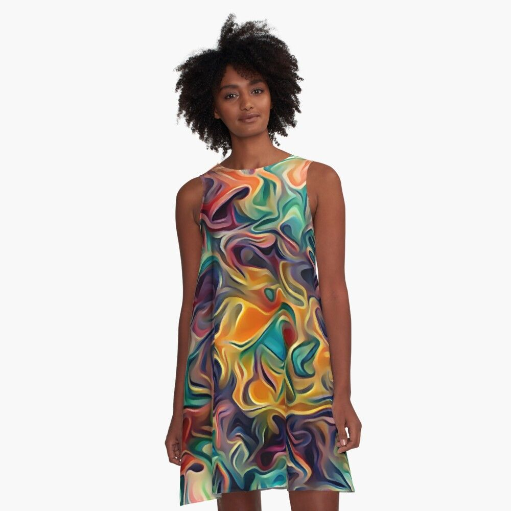 Color Your Day A Line Dress By Blu888 A Line Dress Vibrant Colors Woven Dress