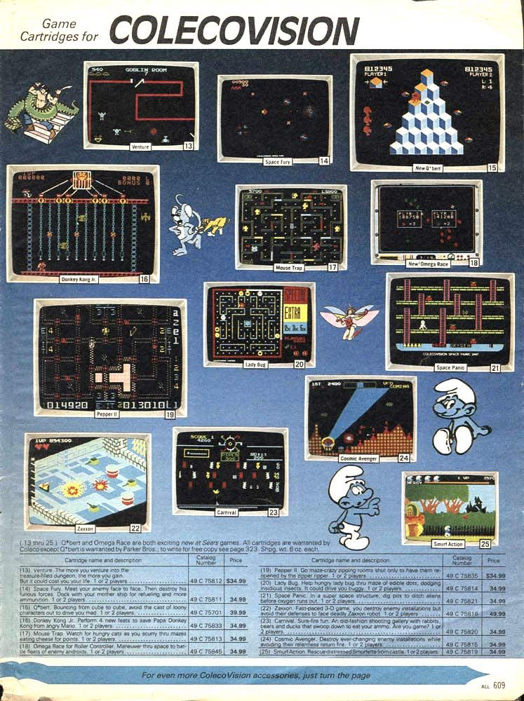 Colecovision games | Retro Gaming | 80s video games, Classic