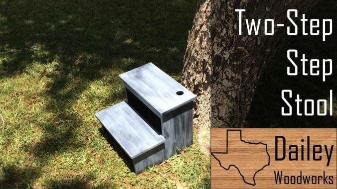 Two-Step Step Stool made from one 8ft x 16in Pine Project Panel | Dailey Woodworks