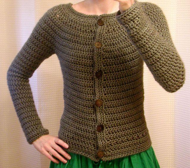 Top Down Round Yoke Cardigan Tutorial Crochet Stuff Pinterest