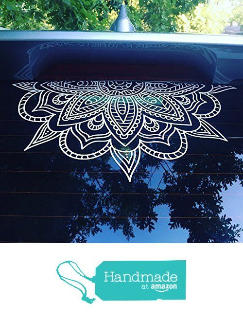 Half mandala window decals car decals wall decal vinyl decal mandala sticker boho decal om zen hippy yoga henna indian decal