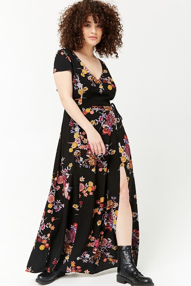 62d66f89aa37 Product Name Plus Size Floral Maxi Skort Romper