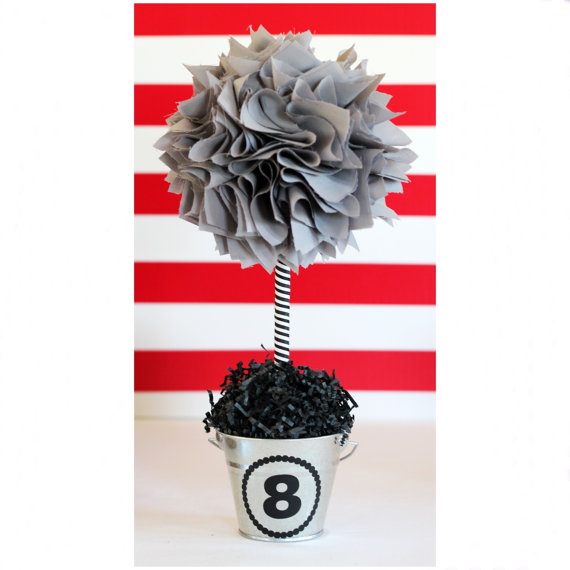GRAY CENTERPIECE / Graduation party by SweetGeorgiaSweet on Etsy
