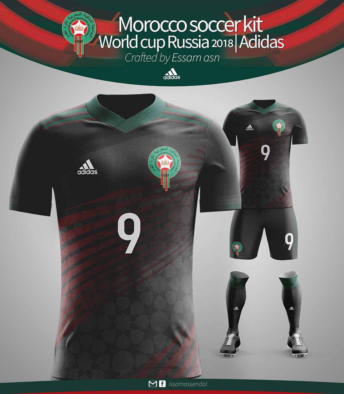 8f85ac688 MOROCCO SOCCER KIT WORLD CUP RUSSIA 2018 ADIDAS CRAFTED on Behance ...
