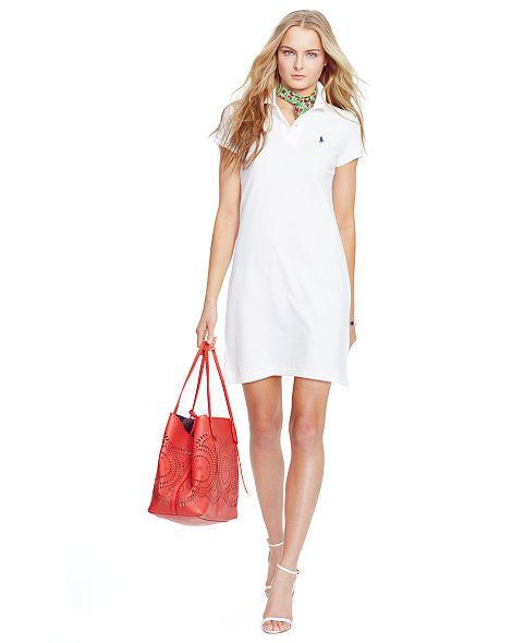 48b325f8 Cotton Mesh Polo Dress - Polo Ralph Lauren Short Dresses ...