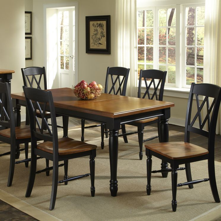 home styles monarch 7 piece dining set  dining table in