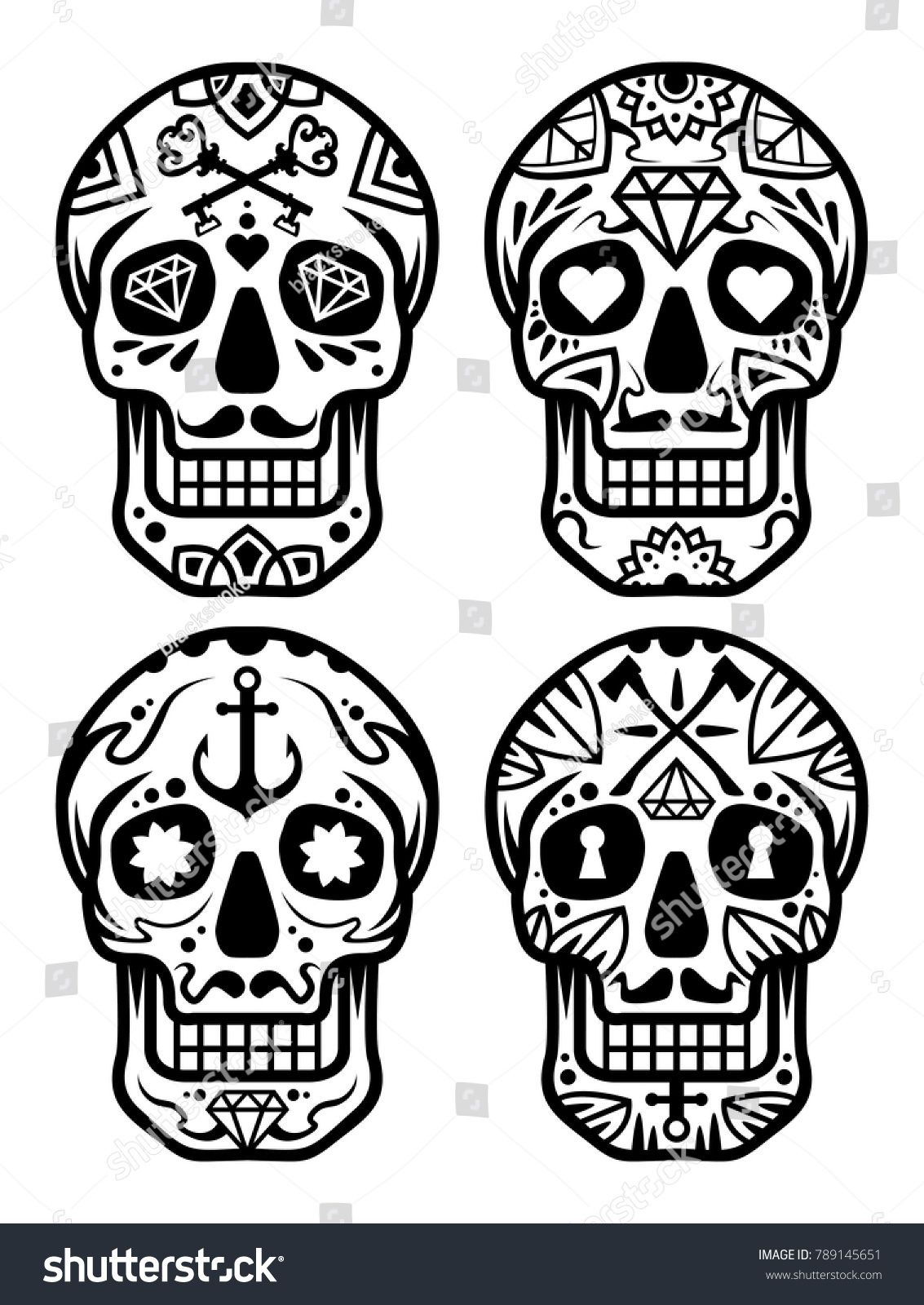 Candy Skull Vector File Skull Pinterest Tattoos Sugar Skull